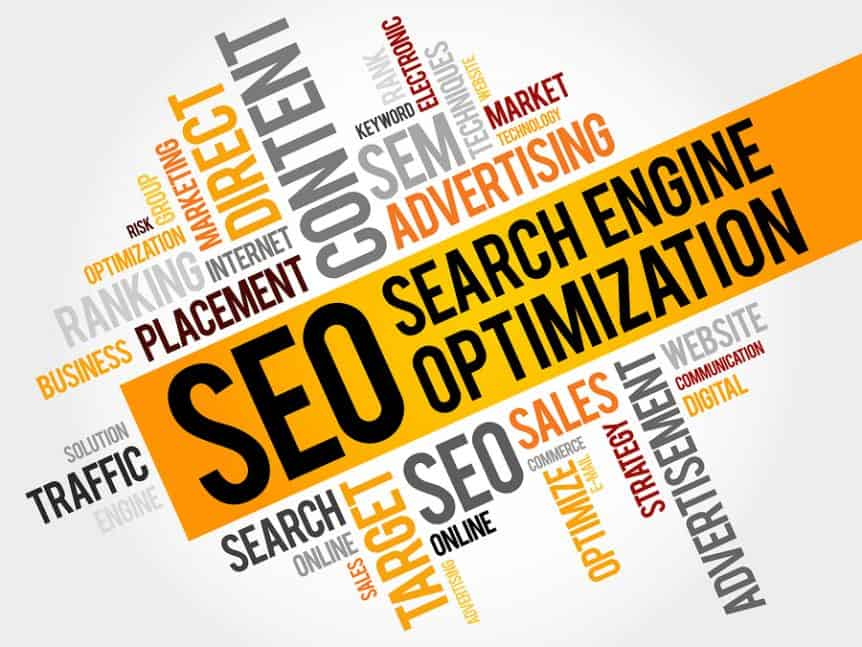 Search Engine Optimization Word Cloud Image
