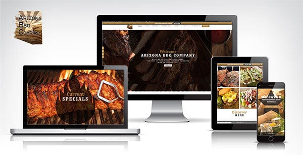 Arizona BBQ Company Website on different devices
