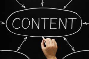 the word content with a black background