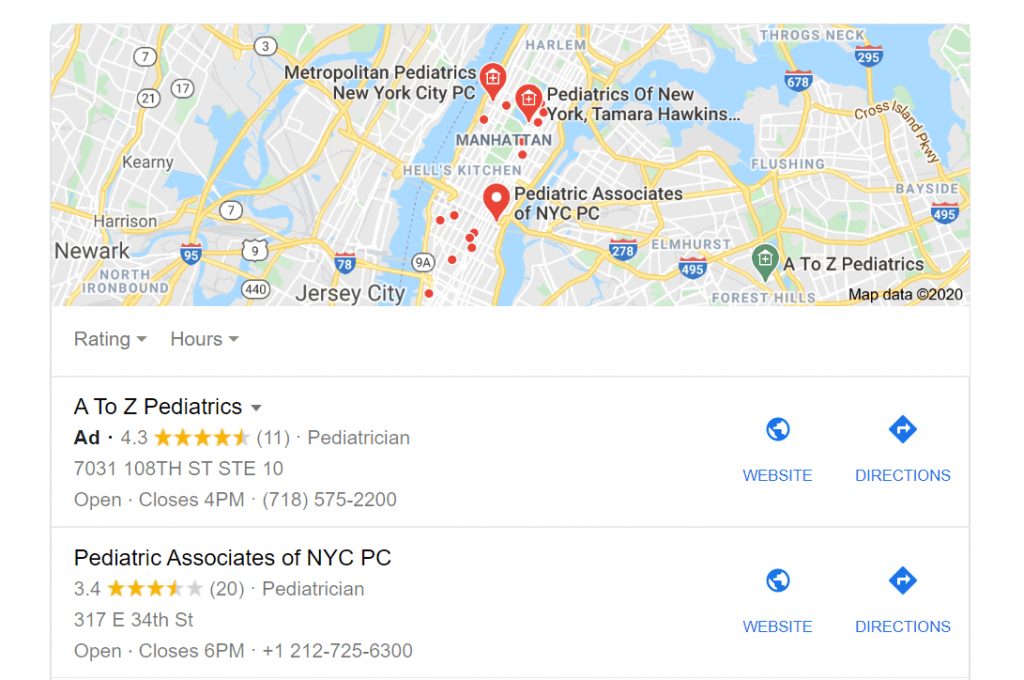 Google Map Pack - Example