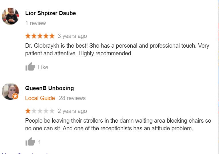 Google Reviews - Example