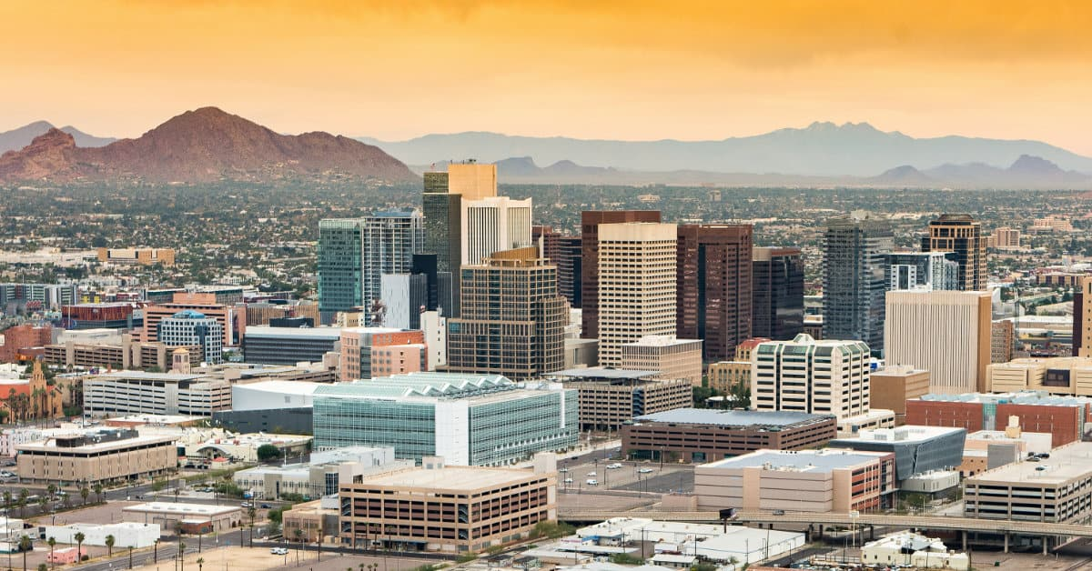 The Phoenix Arizona Skyline
