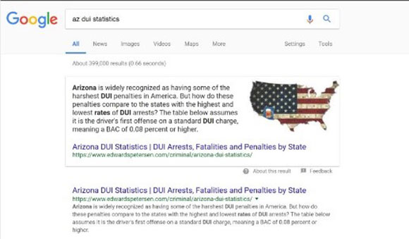 az dui statistics search result page